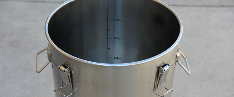 Filling the Brew Bucket