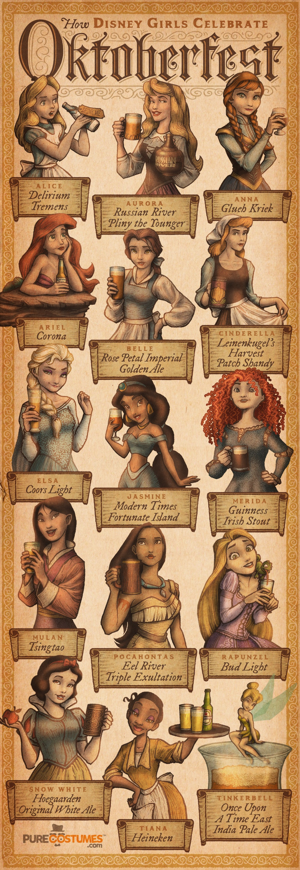 What Beer Would Each Disney Princess Drink?